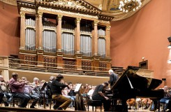 Kirill Gerstein & Česká filharmonie a Jiří Bělohlávek - foto ze zkoušky - Praha únor 2016 (foto © Petr Kadlec)