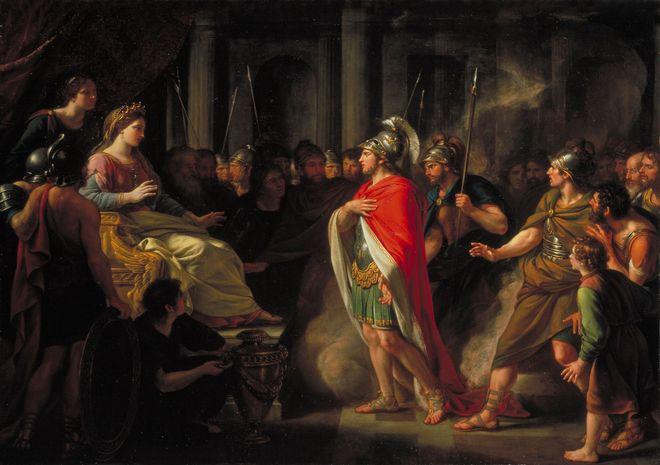 Setkání Dido a Aenease (Nathaniel Dance-Holland , cca 1766)
