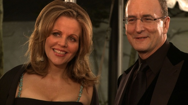 Renée Gleming a generální ředitel Met Peter Gelb (zdroj nysun.com)