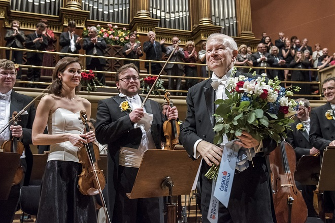 Mimořádný koncert České filharmonie k 70. narozeninám Jiřího Bělohlávka - 13.2.2016 Praha (foto Petra Hajská)