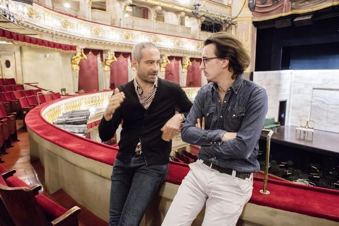 Dirigent Antonello Manacorda a režisér Damiano Michieletto (foto Herwig Prammer)