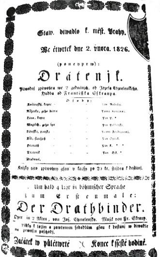 Program Stavovského divadla (foto archiv)