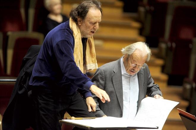 Riccardo Chailly, Friedrich Cerha (foto archiv)