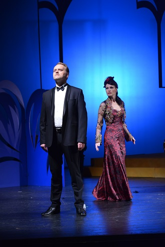 F. Lehár: Giuditta - Iveta Dufková (Giuditta) a Jaroslav Kovacs (Octavio) - SD Ústí nad Labem 2016 (foto Petr Berounský)