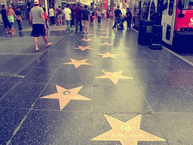 Chodník slávy v Hollywoodu (foto archiv)