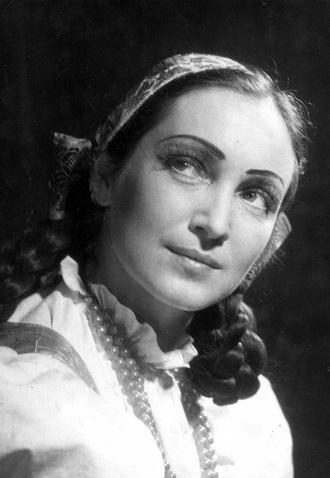 J.Burghauser: Honza a čert - Julie Jastřembská (Káča) - SD Ostrava 1954 (foto František Krasl)