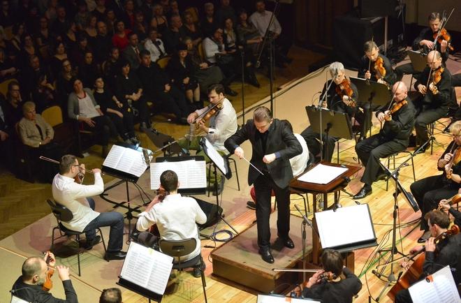Epoque Quartet, SOCŘ a Jan Kučera - Obecní dům 1.2.2015 (foto SOČR)