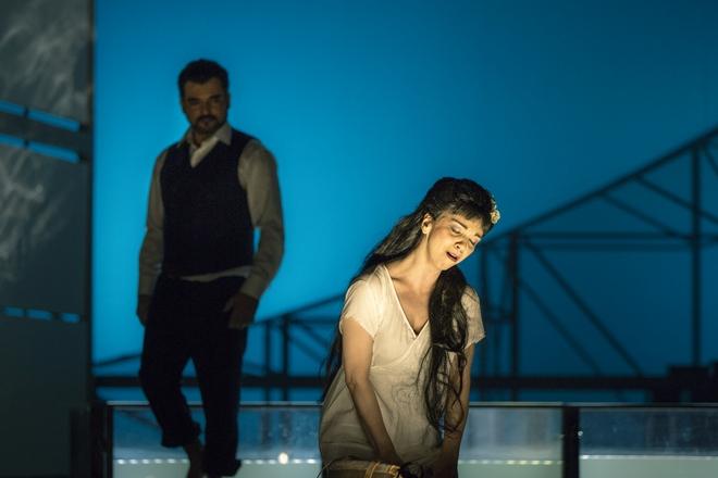 G.Puccini: Madama Butterfly - Luciano Mastro (F. B. Pinkerton), Maria Kobielska (Cio-Cio-San) - ND Praha 2016 (foto Patrik Borecký)