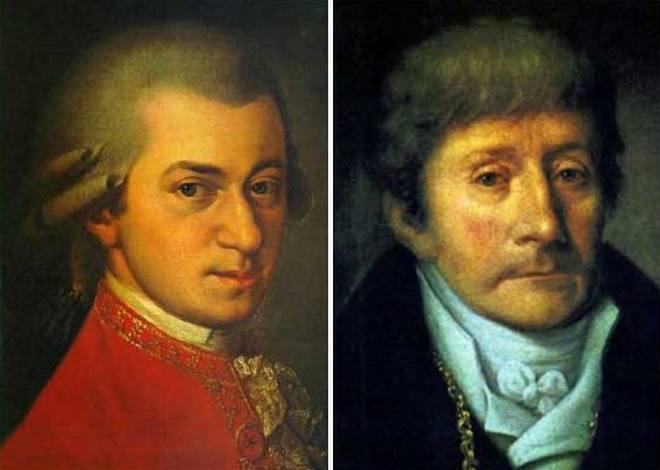 Wolfgang Amadeus Mozart a Antonio Salieri (foto archiv)