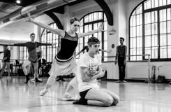 S. Prokofjev: Sněhová královna - Nikola Márová (Sněhová královna), Matěj Šust (Káj), soubor Baletu ND - foto ze zkoušky (foto Martin Divíšek)