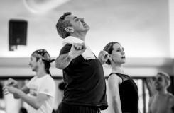 S. Prokofjev: Sněhová královna - Michael Corder (choreograf), Nikola Márová (Sněhová královna) - foto ze zkoušky (foto Martin Divíšek)