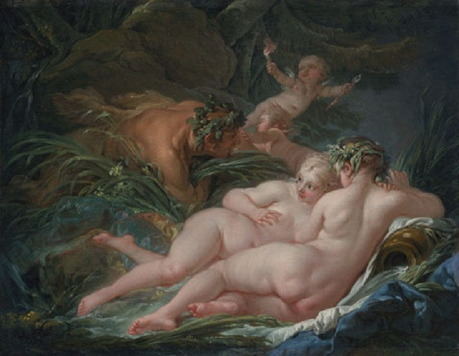 F.Boucher: Pan a Syrinx (foto archiv The National Gallery)