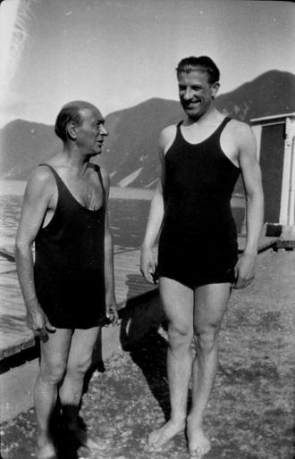 Arnold Schoenberg a Winfried Zillig (foto archiv)