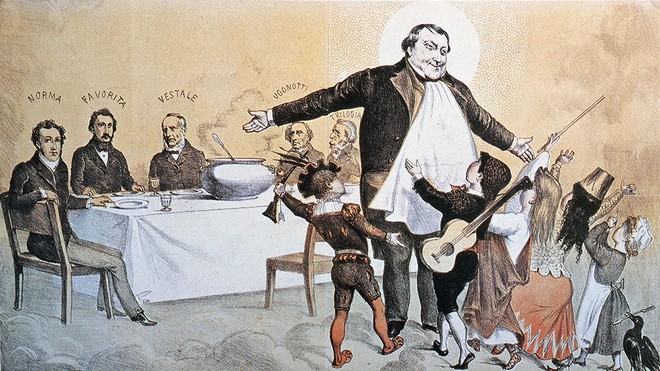 Rossiniho karikatura od Casimira Teja (zdroj missjacobsonsmusic.blogspot.com)