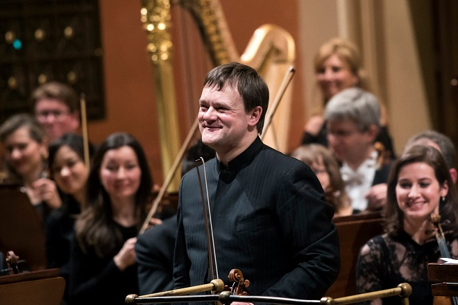 Frank Peter Zimmermann, Česká filharmonie a Jaap van Zweden - Praha 16./17./18.3.2016 (foto Petra Hajská)