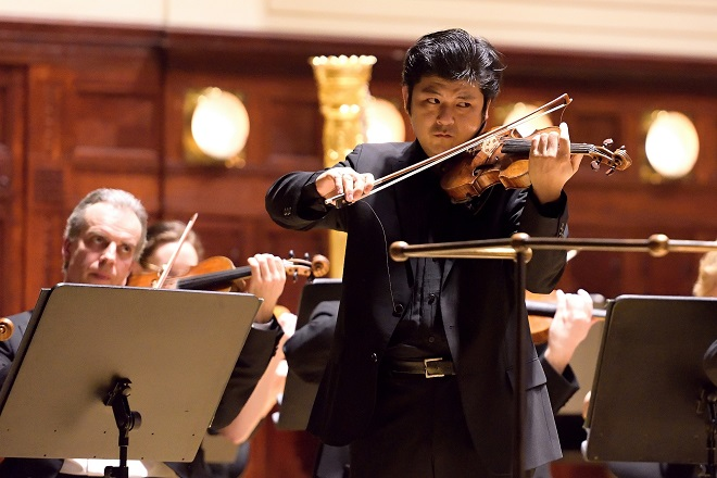 Daishin Kashimoto - Symfonický orchestr hl.m.Phy FOK - 2./3.3.2016 (zdroj FB FOKu)