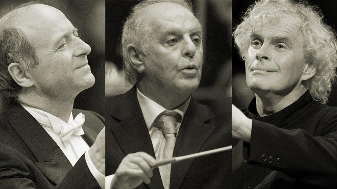 Iván Fischer, Daniel Barenboim, Simon Rattle (foto archiv)