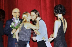 Vyhlášení Výročních cen Opery Plus 2016 - Vít Dvořák, Helena Bartlová, Kristýna Němečková, Tereza Podařilová (foto Hana Smejkalová)