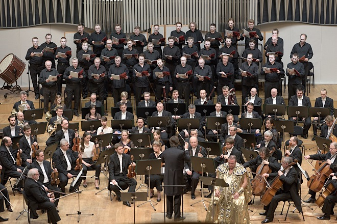 Slovenská filharmónia - dirigent Juraj Valčuha - Jan Vacík (Oedipus) - Bratislava 10.3.2015 (foto Jan Lukáš)