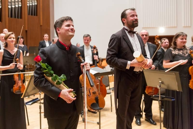 Roman Patočka, Marek Ivanović, Komorní filharmonie Pardubice - Pardubice 14./15./16.3.2016 (foto FB KFP)
