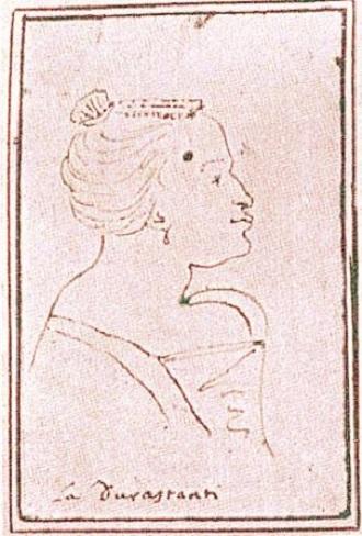 Margherita Durastanti - karikatura (foto en.wikipedia.org)