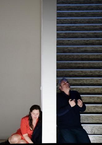 Giacomo Puccini: Il Trittico - Elza van den Heerver (Giorgetta), Željko Lučić (Michele) - Oper Frankfurt 2016 (foto © Barbara Aumüller)