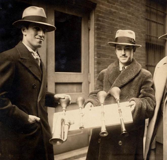 George Gershwin a James Rosenberg (perkusionista Cincinnati Symphony Orchestra) (zdroj Ira and Leonore Gershwin Trusts)