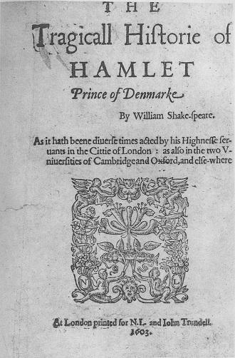 W.Shakespeare: Hamlet (1603) - (foto archiv)