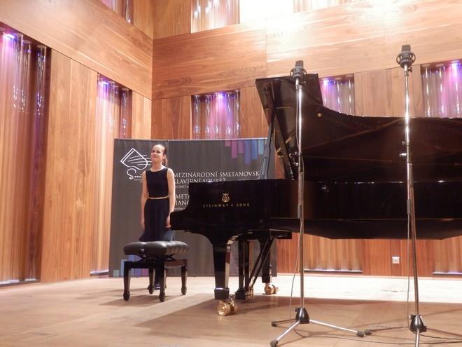 Mezinárodní smetanovská klavírní soutěž 2016 - Lucie Valčová (foto Petr Bureš)