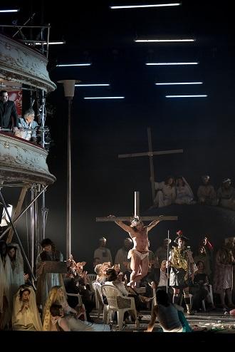 B.Martinů: Die Griechische Passion - Wilfried Zelinka (Grigoris), Tino Sekay (Ladas), Rolf Romei (Manolios) - Oper Graz 2016 (foto © Werner Kmetitsch)