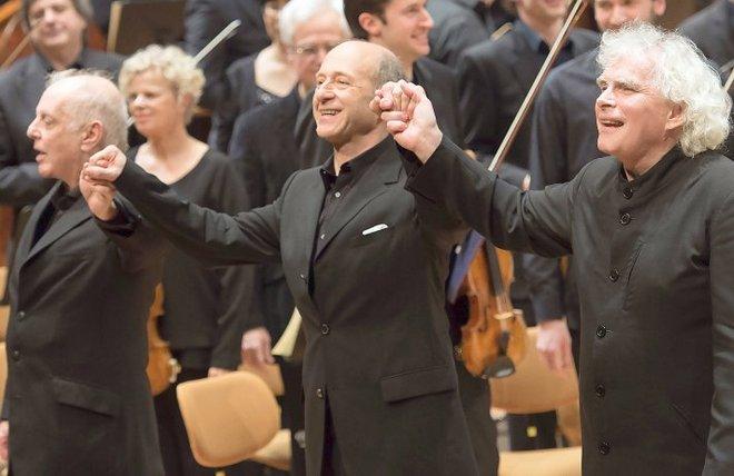 Daniel Barenboim, Iván Fischer, Simon Rattle - Berlín 1.3.2016 (foto Berliner Philharmoniker / Monika Rittershaus / BM)