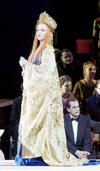 Giacomo Puccini: Turandot - Lise Lindstrom (Turandot) - Wiener Staatsoper 2016 (foto Wiener Staatsoper/Pöhn)