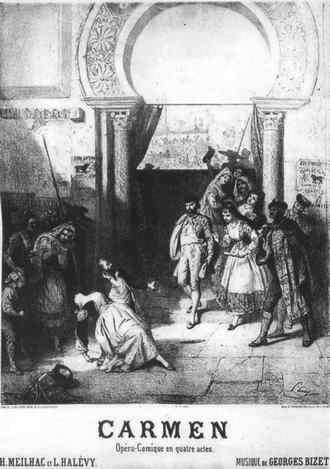 G.Bizet: Carmen - plakát k původní premiéře roku 1875 (foto archiv)