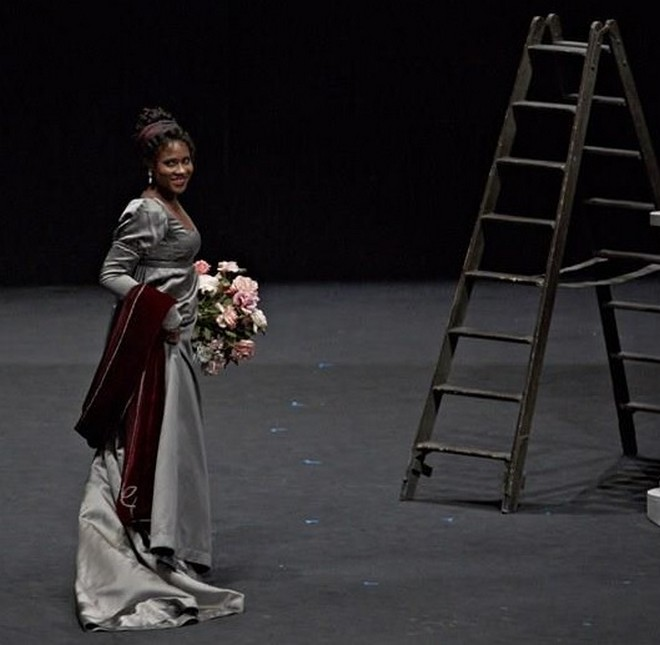 Giacomo Puccini: Tosca - Adina Aaron (Floria Tosca) - Oper Stuttgart 2016 (foto A.T. Schaefer)