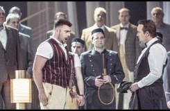 Charles Gounod: Romeo a Julie (Roméo et Juliette) - Martin Gyimesi (Tybalt), Martin Šrejma (Romeo) - ND Praha 2016 (foto Patrik Borecký)
