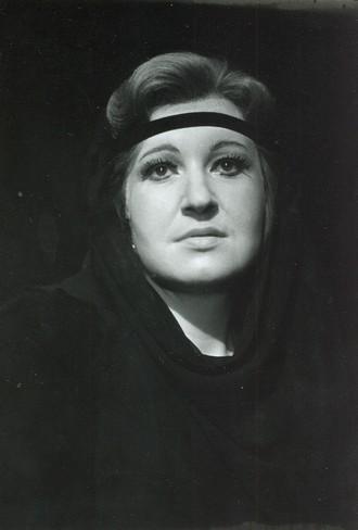 Bedřich Smetana: Dalibor - Eva Urbanová (Milada) - DJKT Plzeň 1990 (foto archiv DJKT)