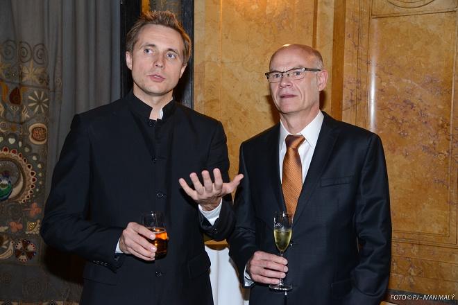 Dirigent Vasilij Petrenko a Roman Bělor (foto © Pražské jaro / Ivan Malý)