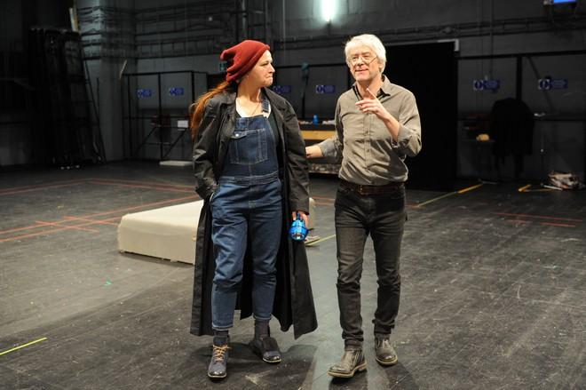 Maida Hundeling a režisér Martin Bendik na skúške Fidelia (foto A. Klenkova)