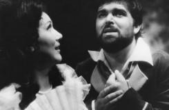G. Donizetti: Nápoj lásky -  Mária Turňová (Adina), Peter Dvorský (Nemorino) SND 1983 (foto archív SND / foto Kamil Vyskočil)
