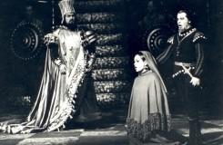 G. Verdi: Nabucco - Bohuš Hanák, Ivetta Czihalová, Imrich Jakubek - SND 1966 (foto archív SND)
