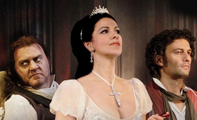 G. Puccini: Tosca - Bryn Tarfel (Scarpia), Angela Gheorghiu (Tosca), Jonas Kaufmann (Cavaradossi) (foto EMI)