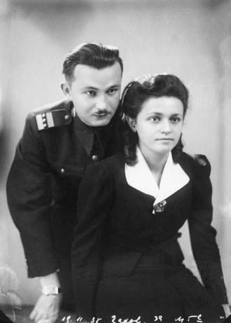 Alfréd Radok s manželkou Marií (foto archiv)