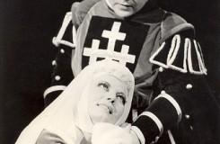 G. Verdi: Trubadúr - Anna Poláková (Leonora), Imrich Jakubek (Manriko) SND 1963 (foto archív SND)