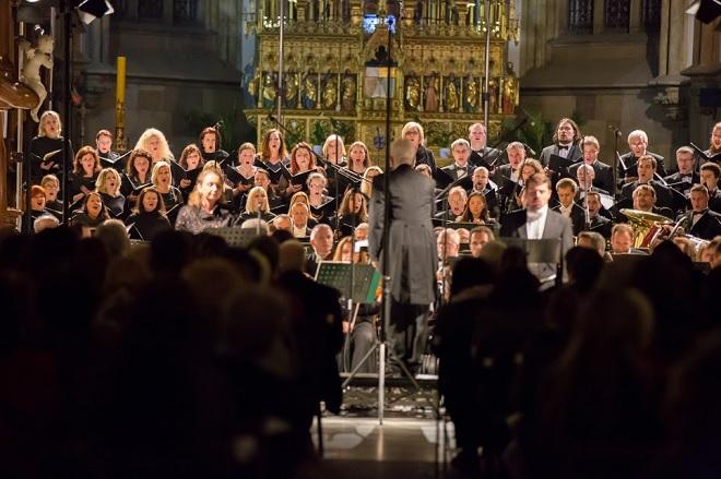 Velikonoční festival duchovní hudby Brno – Filharmonie Brno, Český filharmonický sbor Brno, Libor Pešek - Brno 3.4. 2016 (foto Petr Francán)