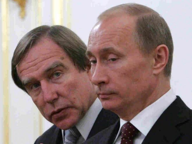 Sergej Roldugin a Vladimir Putin (foto archiv autora)