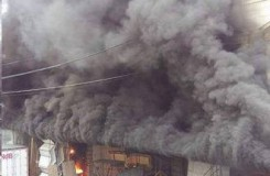 požár u Mahenova divadla 20.5.2016 (zdroj FB)