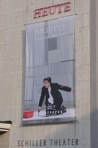 B.Martinů - Juliette - poutač na Schiller Theater Berlín (foto FB)