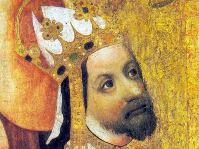 Karel IV. na votivním obraze Jana Očka (foto archiv)