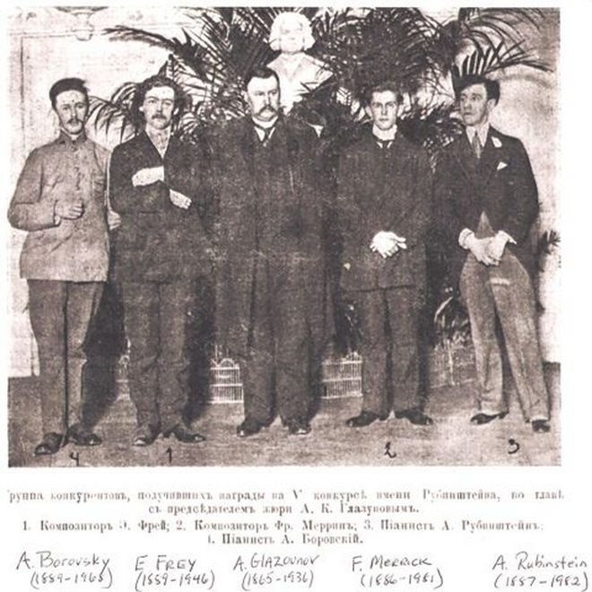 Anton Rubinstein Competition 1910 (foto archiv)