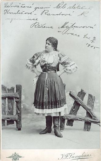 J.B.Foerster: Eva - Růžena Maturová (Eva) - ND Praha 1899 (foto Langhans / archiv ND)